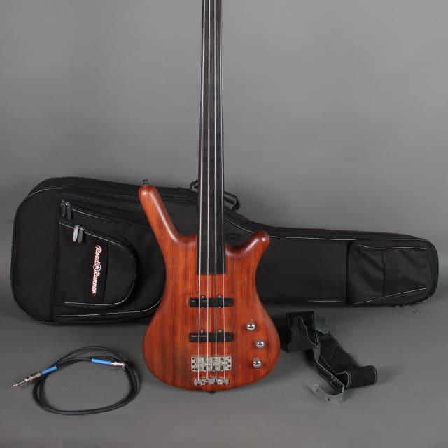 Warwick Corvette Standard Fretless 4 String Bass 2001 Natural Oil Ovangkol image
