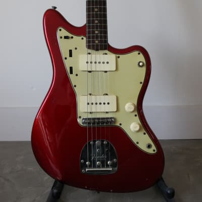 1964 Fender Jazzmaster Candy Apple Red Pre-CBS Spaghetti Logo Brown Case Clay Dot Vintage