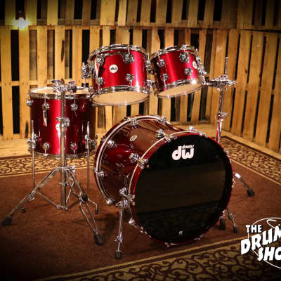 DW Collectors Series Shell Pack in Burgundy Metallic Lacquer so# 1048544 (video demo)