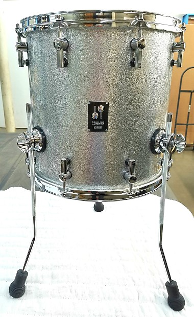 Sonor prolite silver sparkle lacquer 14x14 floor tom new for 14x14 floor tom