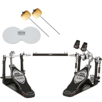 TAMA HP900PWN Iron Cobra 900 Power Glide Double Bass Drum Pedal w/ Case, Impact Patches, Beaters
