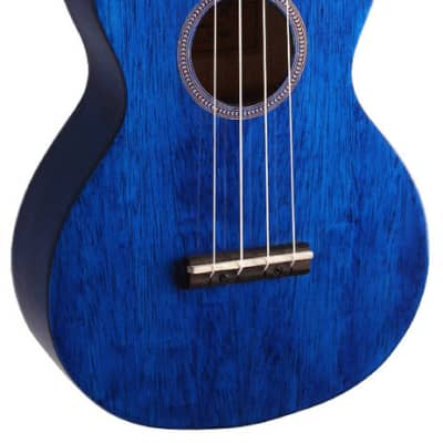 MAHALO Hano Series Concert Ukulele Transparent Blue Gloss. for sale