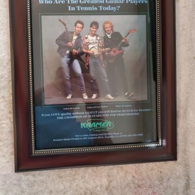 1984 Kramer Guitars Color Promotional Ad Framed Eddir Van Halen Original