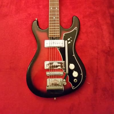 Sakai Mokko / Vargas Cameo Deluxe? 1960s Red Burst w/Gig Bag for sale