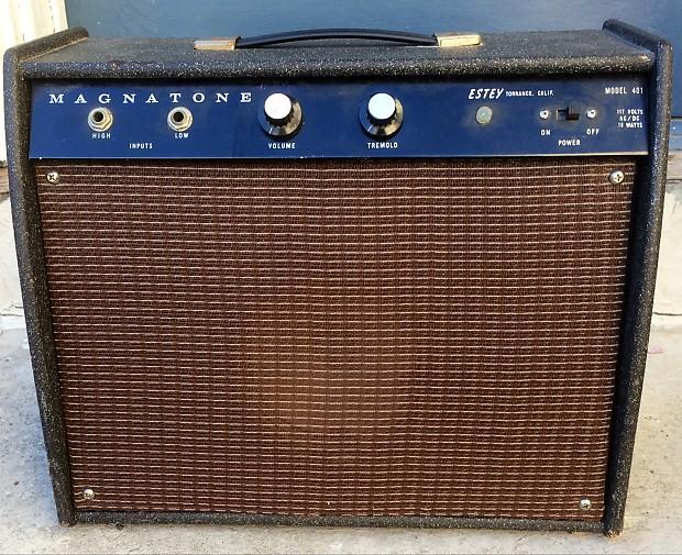magnatone estey 401 starlite 1960 39 s electric guitar tube reverb. Black Bedroom Furniture Sets. Home Design Ideas