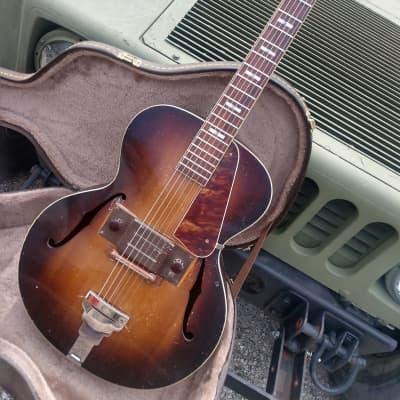 Super Rare Regal? Montgomery Ward Recording King archtop 1930s sunburst just serviced neck reset