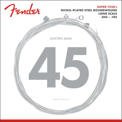 Fender 7250 Bass Strings Nickel Plated Steel Long Scale 7250M .045-.105 (4)