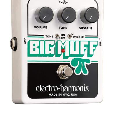 Electro-Harmonix BIG MUFF PI W/TONE WICKER Battery included, 9.6DC-200 PSU optional