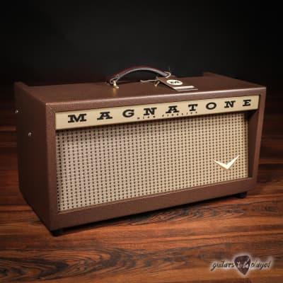 Magnatone Twilighter 22W Reverb/Vibrato Tube Head w/ Footswitch & Cover for sale