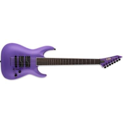 ESP LTD SC-607 Baritone Electric Guitar - Purple Satin for sale