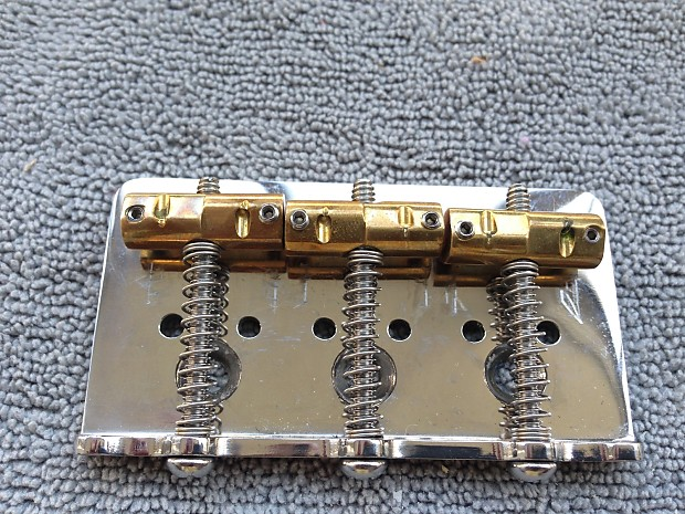 Used Callaham American Standard Hardtail Bridge w/3 Enhanced Compensated  Brass for Bigsby Chrome
