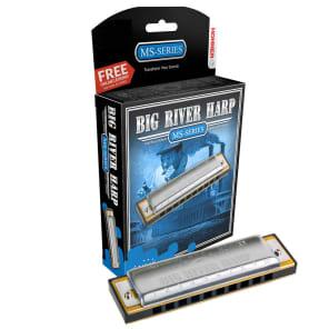 Hohner 590BX-D MS Series Modular Big River Harp Harmonica - Key of D