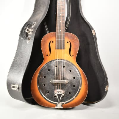 1930s Regal Angelus Model 19 Sunburst Finish Resonator Acoustic Guitar w/SSC for sale