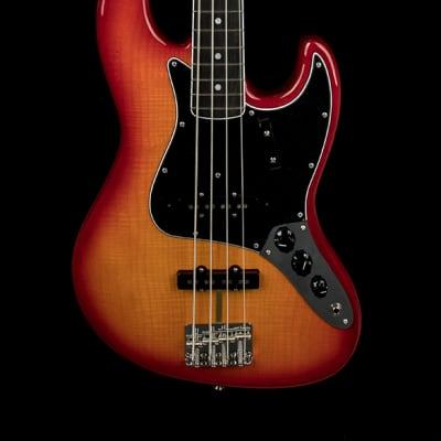 Fender Rarities Flame Ash Top Jazz Bass - Plasma Red Burst #99538 for sale