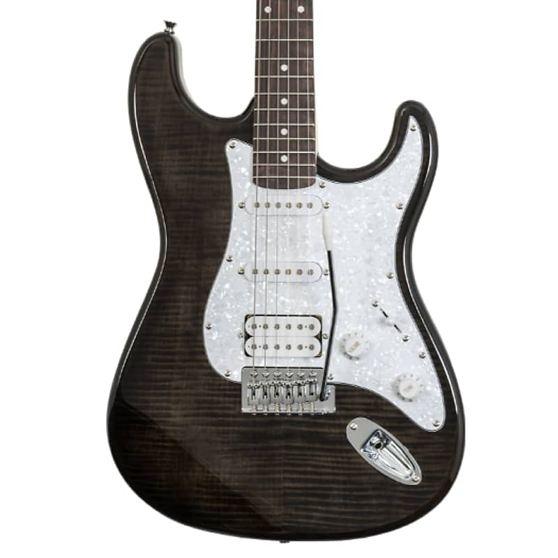 Washburn Sonamaster Deluxe SDFTB-U Electric Guitar in Transparent Black