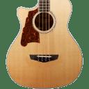 D'Angelico  Premier Mott Left-Handed Acoustic-Electric Bass Guitar Natural