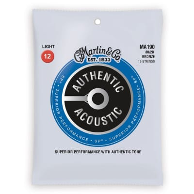 Martin Strings 80/20 Bronze 12- String Acoustic Guitar Strings MA190 for sale