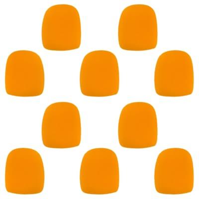 Microphone Windscreen - 10 Pack - Orange - Fits Shure SM58, Beta 58A & Similar - Vocal Mic Cover New