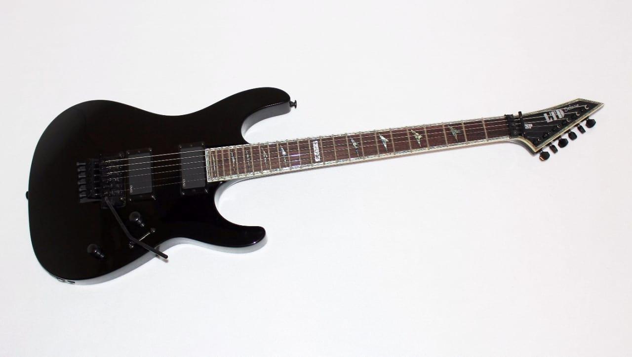 esp ltd m 1000 deluxe black electric guitar w emg 81 39 s reverb. Black Bedroom Furniture Sets. Home Design Ideas