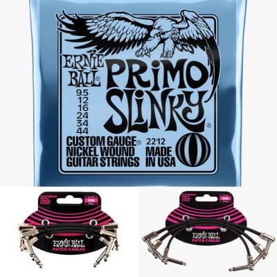 Ernie Ball Primo Slinky/Flat Ribbon patch cable bundle