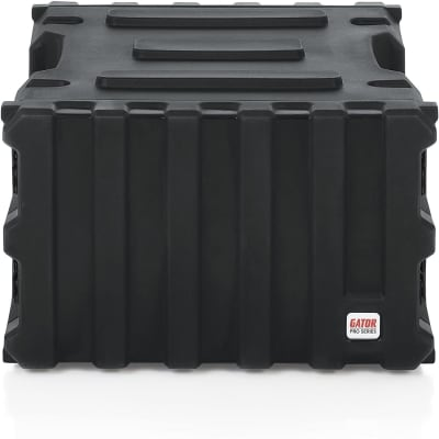 "Gator GPRO6U19 Pro-Series Molded Mil-Grade PE Rack Case; 6U, 19"" Deep"