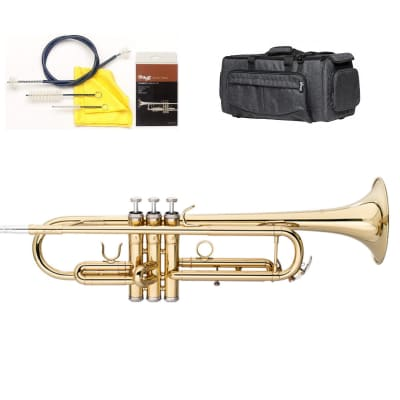 Stagg Bb Student Brass Trumpet w/ Case & Cleaning Kit