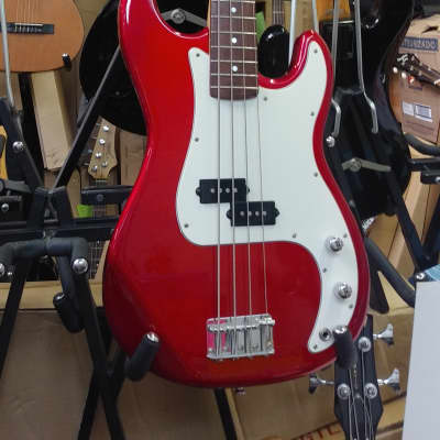 Fernandes 1990's Made In Japan High Quality Metallic Red Precision Style Bass Guitar - Super Clean! for sale
