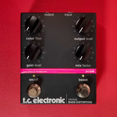 TC Electronic Vintage Bass Distortion【w/ Original Box】Guitar Bass Effects Pedal for sale