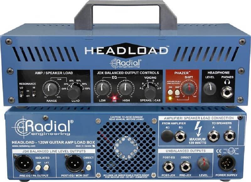 radial headload v8 guitar amp load box 8 ohm attenuator reverb. Black Bedroom Furniture Sets. Home Design Ideas