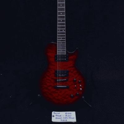 Brian Moore DC-1 13 Pin (Synth Guitar) Black Cherry Burst Quilt for sale