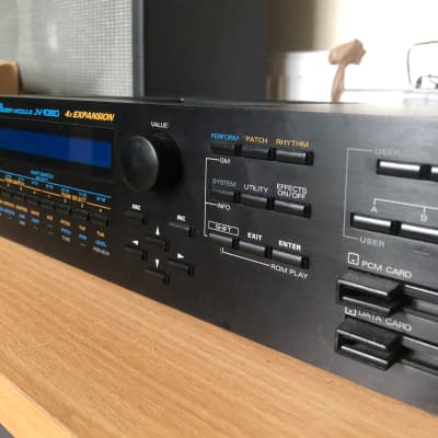 Roland JV-1080 with 4 RAM expansion cards