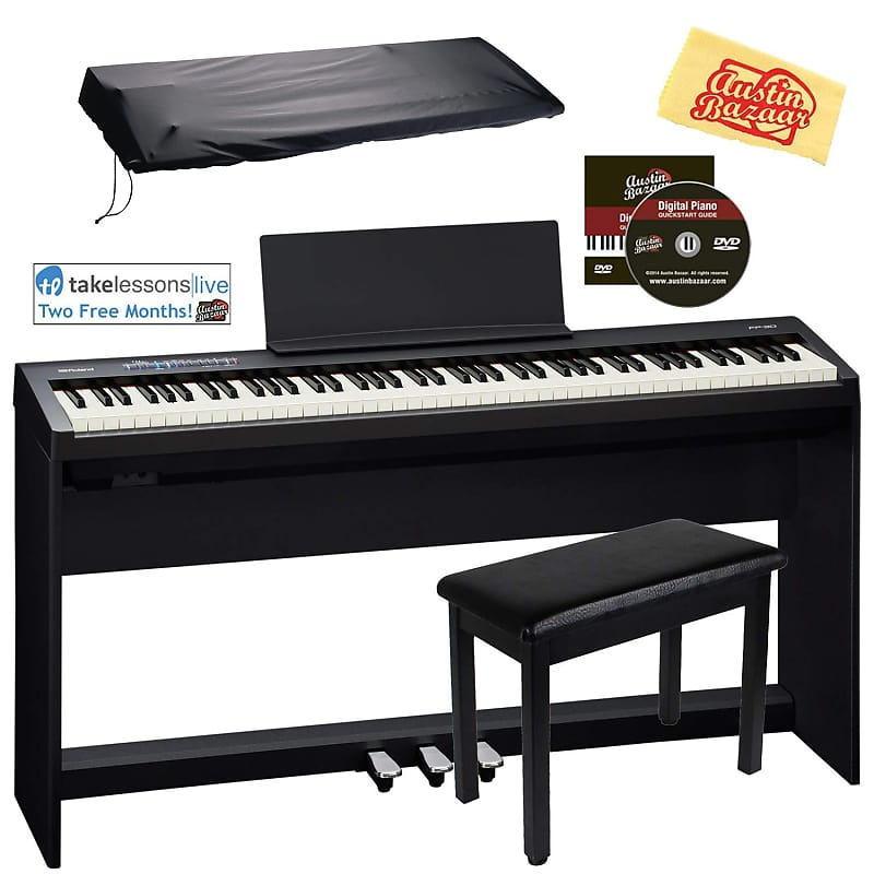 roland fp 30 digital piano with roland ksc 70 stand and reverb. Black Bedroom Furniture Sets. Home Design Ideas