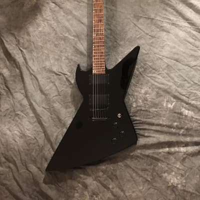 Black Diamond USA GOLIATH Blackout Custom X-plorer Electric Guitar for sale