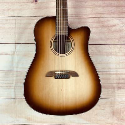 Alvarez AD60-12CE SHB Acoustic/Electric 12-String Guitar – ShadowBurst