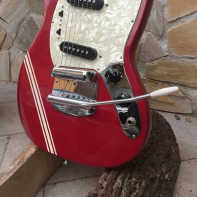 Teisco Mustang Competition 1960s Dakota Red & Teisco | Reverb
