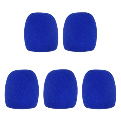Microphone Windscreen - 5 Pack - Blue - Fits Shure SM58, Beta 58A & Similar - Vocal Mic Cover New