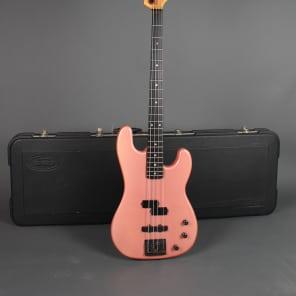 1985 Schecter USA P / J Bass W/ Hardshell Case Salmon Pink 9lbs 9oz