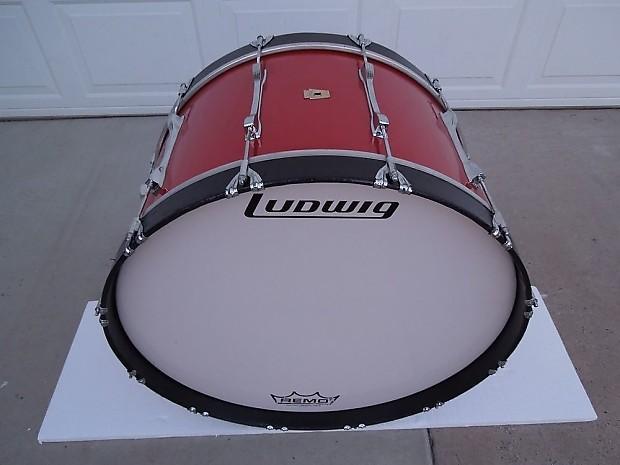 ludwig vintage bass drum 14x26 12 lugs marching concert kick reverb. Black Bedroom Furniture Sets. Home Design Ideas