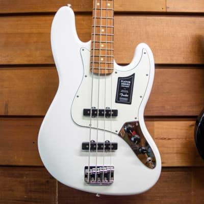 "Fender Player Jazz Electric Bass Guitar, 20 Frets, Modern ""C"" Shape Maple Neck, Pau Ferro Fingerboar"