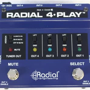 Radial 4-Play Multi-Channel Direct Box