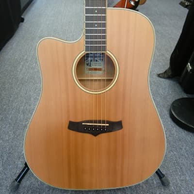 Tw4-bk Tanglewood Acoustic Guitar With Hard Case Super Folk Winterleaf