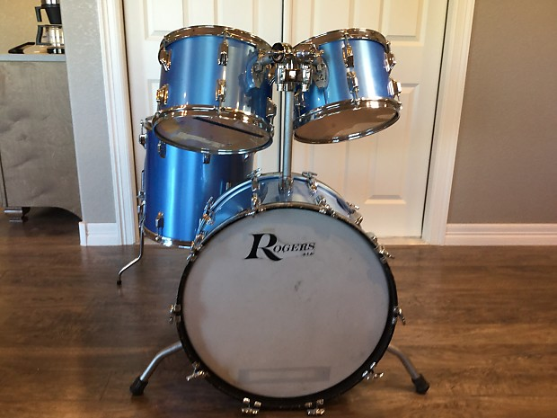 Rogers Big R Xp8 Drum Set 1970s Blue Mist Reverb