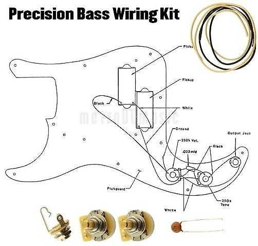Precision Bass Wiring Kit P CTS 250K Cloth Wire .047 | Reverb