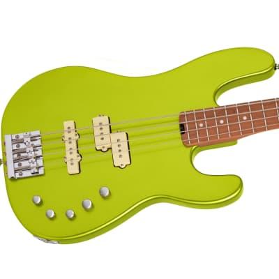 NEW! 2021 Charvel Pro-Mod San Dimas® Bass PJ IV lime green metallic (pre-order) for sale