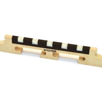 "Grover 95 5 String 1/2"" Acousticraft Banjo Bridge w/ Bone Inserts"
