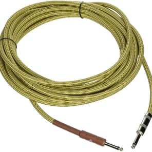 Fender Custom Shop TWEED Electric Guitar Cable, Straight to Straight, 25' ft for sale