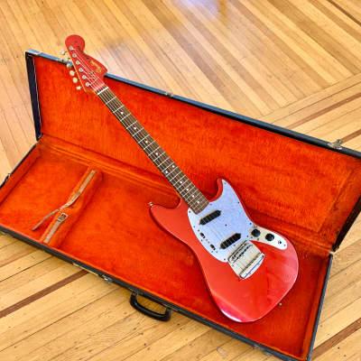 Fender Mustang CAR DuPont candy apple red original vintage mij japan for sale