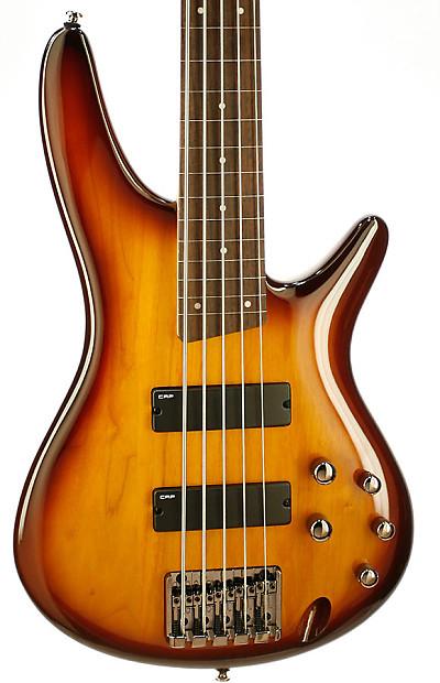 ibanez sr375f fretless 5 string electric bass guitar brown reverb. Black Bedroom Furniture Sets. Home Design Ideas
