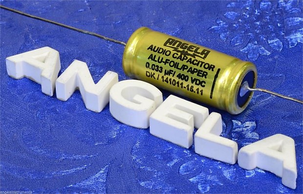 Jensen/Angela  033uF 400VDC Aluminum Foil Paper In Oil Signal Capacitor  With Solid Silver Leads