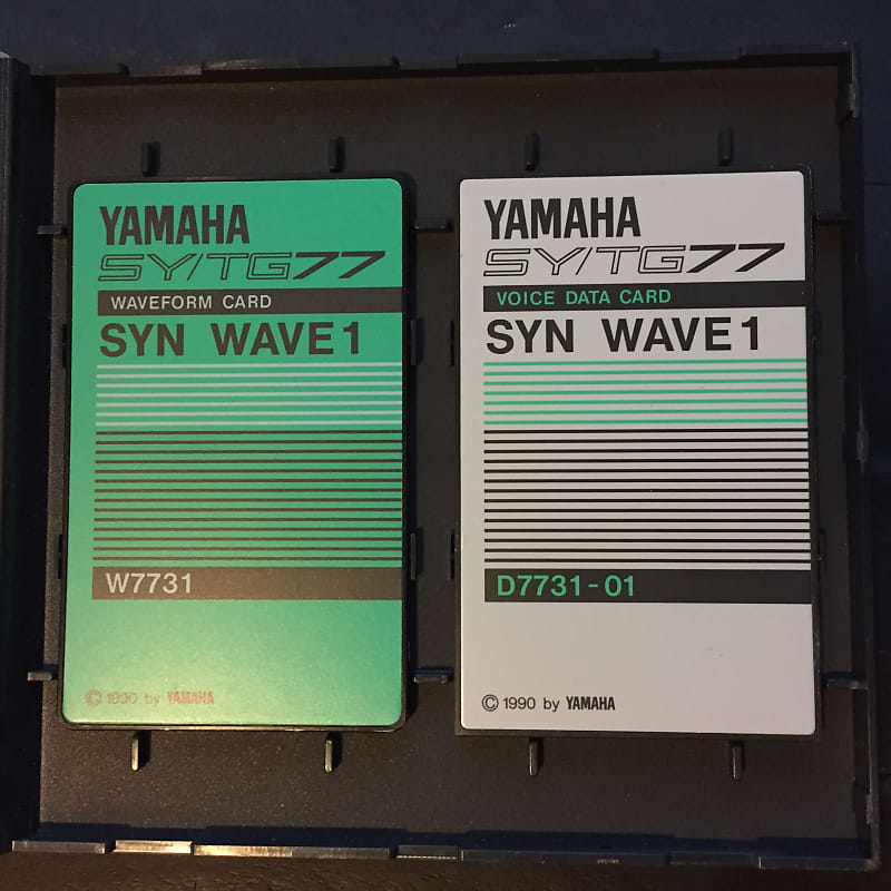 Yamaha Syn Wave 1 - SY77 TG77 Sound Card Set